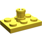 LEGO Yellow Plate 2 x 3 with Helicopter Rotor Holder