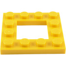 LEGO Yellow Plate 4 x 4 with 2 x 2 Open Center (64799)