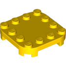 LEGO Yellow Plate 4 x 4 x 2/3 Circle with Reduced Knobs (66792)