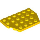 LEGO Yellow Plate 4 x 6 without Corners (32059)