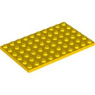 LEGO Yellow Plate 6 x 10 (3033)