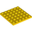 LEGO Yellow Plate 6 x 6 (3958)