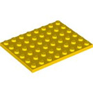 LEGO Yellow Plate 6 x 8 (3036)