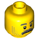 LEGO Yellow Police Officer Plain Head (Recessed Solid Stud) (66114)