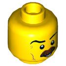 LEGO Yellow Policeman Plain Head (Recessed Solid Stud) (29931)