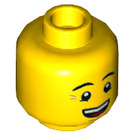 LEGO Yellow Queasy Man Plain Head with Smile (Recessed Solid Stud) (17956 / 23102)