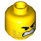 LEGO Yellow Rex Dangervest Plain Head (Recessed Solid Stud) (44217)