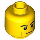 LEGO Yellow Roman Soldier Head (Safety Stud) (99279)