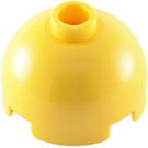 LEGO Yellow Round Brick 2 x 2 with Dome Top (Blocked Open Stud with Bottom Axle Holder x Shape + Orientation) (30367)