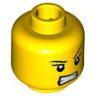 LEGO Yellow Samurai X Head (Safety Stud) (13620 / 70542)