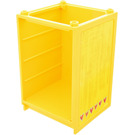 LEGO Yellow Scala Cabinet / Cupboard 6 x 6 x 7 2/3 with Sticker from Set 3142