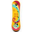 LEGO Yellow Scala Skateboard with Dog and Paws Pattern