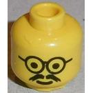 LEGO Yellow Scientist Head (Safety Stud)