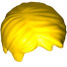 LEGO Yellow Short Tousled Hair with Side Parting (62810)