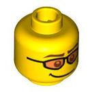 LEGO Yellow Skier Head (Safety Stud) (92129)