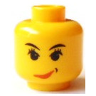 LEGO Yellow Sky Lane Island Xtreme Stunts Head (Safety Stud)