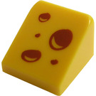 LEGO Yellow Slope 1 x 1 (31°) with Cheese holes