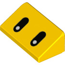 LEGO Yellow Slope 1 x 2 (31°) with Decoration (76903)