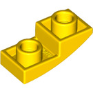 LEGO Yellow Slope 1 x 2 Curved Inverted (24201)
