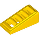 LEGO Yellow Slope 1 x 2 x 0.6 (18°) with Grille (61409)