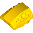 LEGO Yellow Slope 1 x 2 x 2 Curved with Dimples (44675)