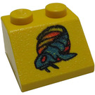 LEGO Yellow Slope 2 x 2 (45°) with Naboo Blue Fish
