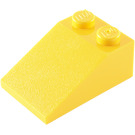 LEGO Yellow Slope 2 x 3 (25°) with Rough Surface (3298)