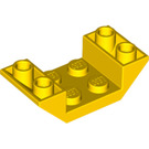 LEGO Yellow Slope 2 x 4 (45°) Double Inverted with Open Center (4871)