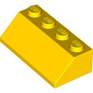 LEGO Yellow Slope 2 x 4 (45°) with Rough Surface (3037)