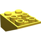 LEGO Yellow Slope 25° (33) 2 x 3 Inverted with Connections between Studs (3747)