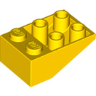LEGO Yellow Slope 25° (33) 2 x 3 Inverted without Connections between Studs (3747)
