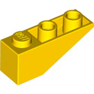 LEGO Yellow Slope 25° (33) 3 x 1 Inverted (4287)
