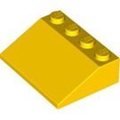 LEGO Yellow Slope 3 x 4 (25°) (3297)