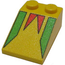 LEGO Yellow Slope 33° 3 x 2 with Freestyle with Rough Surface