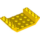 LEGO Yellow Slope 4 x 6 45° Double Inverted with Open Center 3 x Ø4.9 Holes (60219)