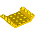 LEGO Yellow Slope 4 x 6 (45°) Double Inverted with Open Center without Holes (30283 / 60219)