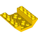 LEGO Yellow Slope 45° 4 x 4 Double Inverted with Open Center (2 Holes) (72454)