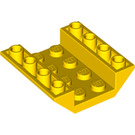 LEGO Yellow Slope 45° 4 x 4 Double Inverted with Open Center (No Holes) (4854)