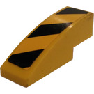 LEGO Yellow Slope Curved 3 x 1 with Danger Stripes (Right) Sticker