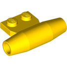 LEGO Yellow Small Smooth Engine with 1 x 2 Side Plate (with Axle Holders) (3475)