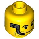 LEGO Jaune Espacer Miner Diriger avec Stubble et Headset (Goujon solide encastré) (18174)