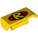 LEGO Yellow Spoiler with Handle with Decoration (26094)