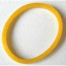 LEGO Yellow Square Cut Rubber Band 15 mm