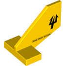LEGO Yellow Tail 2 x 3 x 2 Fin with Trident (58466)
