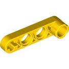 LEGO Yellow Technic Beam 1 x 4 x 0.5 with Knob (2825 / 32006)