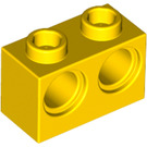 LEGO Yellow Technic Brick 1 x 2 with 2 Holes (32000)