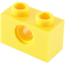 LEGO Yellow Technic Brick 1 x 2 with Hole (3700)