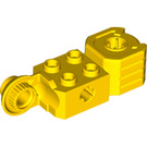 LEGO Yellow Technic Brick 2 x 2 with Axle Hole, Vertical Hinge Joint, and Fist (47431)