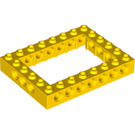 LEGO Yellow Technic Brick 6 x 8 with Open Center 4 x 6 (32532)