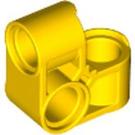 LEGO Yellow Technic Cross Block Bent 90 Degrees with Three Pinholes (44809)